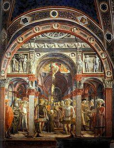 The Vision of St Sorore. 1441 г. Fresco, Renaissance, Santa Maria, Europe Photos, Medieval Clothing, Siena, Sacred Art, Old Art, Barcelona Cathedral