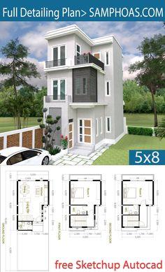 2 Bedroom Tiny Home Plan – SamPhoas Plansearch – House Design Sims House Plans, Dream House Plans, Modern House Plans, Small House Plans, House Floor Plans, Tiny Houses Floor Plans, Small House Design, Modern House Design, Narrow House