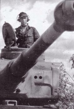 The commander of a Tiger 1 with the 2nd SS Das Reich Division during the Kursk offensive.