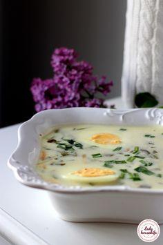 Tradycyjna zupa szczawiowa Homemade Sauerkraut, Sauerkraut Recipes, Soup Recipes, Diet Recipes, Cooking Recipes, Hunters Stew, Cabbage Stew, Polish Recipes, Polish Food