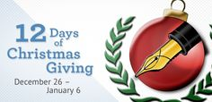 IEW's 12 Days of Christmas Giving 2014 #IEWblog #12DaysChristmas #12days