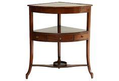 Hepplewhite-Style  Corner Table on OneKingsLane.com $2,500 (retail $3,500)