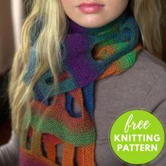 Boxy Scarf Free Knitting Pattern