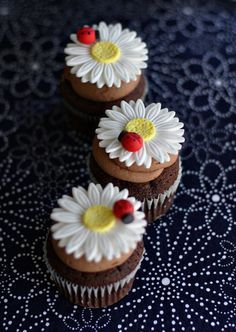 Floral cupcake inspiration @Craftsy