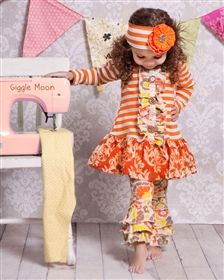 Giggle Moon Baby - Harvest Party - Mabel Dress & Ruffle Legging Set