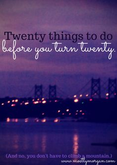 As a teenager, my twenties seem so far away. But in reality they are creeping up on me faster than I would like! So I came up with a list of twenty things to do before I turn twenty - are any of these goals on your bucket list?