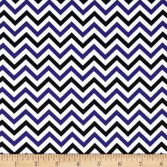 Ups & Downs Chevron Purple/Black from @fabricdotcom Designed for Wilmington Prints, this cotton print is perfect for quilting and craft projects as well as apparel and home decor accents. Chevron stripes run perpendicular to the selvage. Colors include purple, black and white.