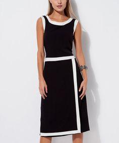 Loving this Black & White Sheath Dress - Plus Too on #zulily! #zulilyfinds