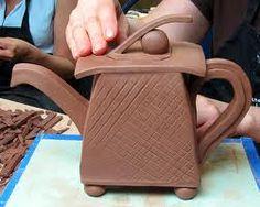 Module Clay Sculpture- Organic v. Hand Built Pottery, Slab Pottery, Ceramic Pottery, Pottery Art, Pottery Studio, Pottery Teapots, Ceramic Teapots, Ceramic Bowls, Ceramic Art