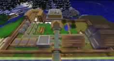 The Minecraft Village Minecraft Houses Survival, Minecraft Houses Blueprints, Minecraft City, Minecraft Videos, Minecraft Construction, Amazing Minecraft, Minecraft Pixel Art, How To Play Minecraft, Minecraft Creations