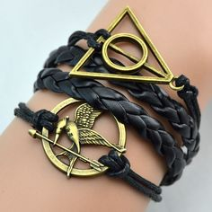 Fashion Imitation PU Leather Infinite Owls Anchor Love Wings Charm Bracelets Multilayer Braided Vintage Harry Potter Bracelet-in Wrap Bracelets from Jewelry on Aliexpress.com | Alibaba Group
