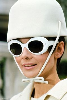 Audrey Hepburn and Oliver Goldsmith sunglasses