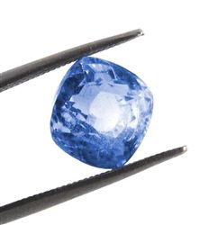 Certified 6.22 Ct Cushion Mixed Cut Untreated Burma Mines Blue Sapphire Precious Gemstone. Now, this is what you call a collectible investment grade stone.