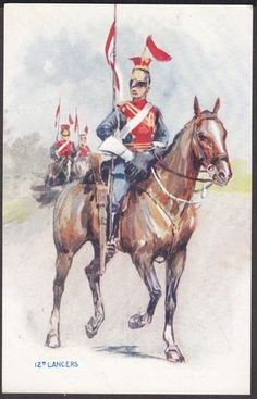 12th Lancers Military Art, Military History, Military Uniforms, British Army Uniform, British Uniforms, British Armed Forces, Napoleonic Wars, American Soldiers, World War I