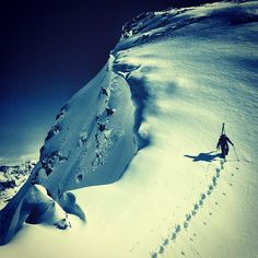 . . Arc'athlete Stian Hagen at the Arc'teryx backcountry camp (via Christina Lusti) . .