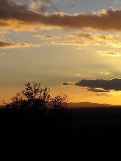January 5, 2014. Sunset. 5 de e nero de 2014. Atardecer en Extremadura.