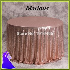 70inch sequin table cloth wedding cheap table cloth for sale free shipping