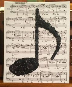 33 ideas for music wall art diy etsy Crafts To Make, Arts And Crafts, Paper Crafts, Diy Crafts, Stick Crafts, Wooden Crafts, Bead Crafts, Button Art Projects, Button Crafts