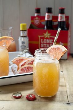 A twist on the traditional German Radler using Lonestar beer and ruby red grapefruit juice.