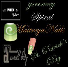 768bc41e6fa5d MB  . Maitreya Finger Nail APPLIER Greenery Spiral - St.Patrick s Day