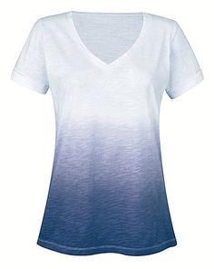 Navy Ombre Short Sleeve T Shirt | Simply Be