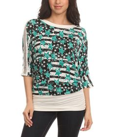 Love this Jade Three Quarter-Sleeve Top on #zulily! #zulilyfinds