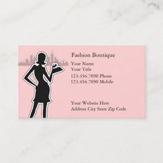 Fashion Business Cards Fashion business cards with stylish fashion girl on the front with city skyline in the background, and great text layout you can customize. Perfect for any business card theme related to fashion, beauty, boutiques, or decorating, even a a hair or nail salon. #Fashion Fashion Beauty, Girl Fashion, Fashion Business Cards, Text Layout, Boutiques, Fashion Boutique, Skyline, Nail, Decorating