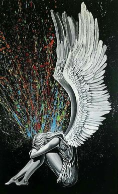 Dark Fantasy Art, Dark Art, Art Sketches, Art Drawings, Angel Drawing, Ange Demon, Angel And Devil, Angel Pictures, Angels And Demons