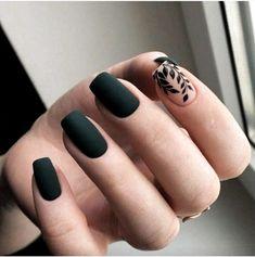 Nails polish Nageldesign Nail Art Nagellack Gelnägel Acryl Nail Art Nail Art Nail Polish Gel Nail Acrylic the - Cute Acrylic Nails, Acrylic Nail Designs, Cute Nails, My Nails, Matte Nail Art, Acrylic Art, Matte Green Nails, Acrylic Nails Green, Dark Nail Art