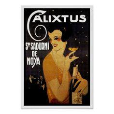 Calixtus Sn. Sadurni de Noya ~ Vintage Wine Ad Poster