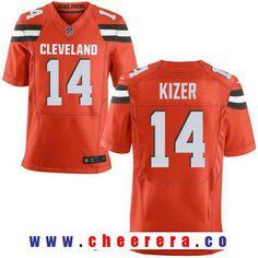 Men's 2017 NFL Draft Cleveland Browns #14 DeShone Kizer Orange Alternate Stitched NFL Nike Elite Jersey