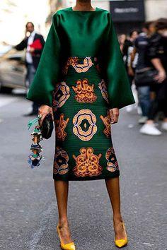 Summer Women Long Sleeve Printed Fashion Midi Plus Size Dress Hot Sale!Summer Women Long Sleeve Printed Fashion Midi Plus Size Dress - Unique Long Hairstyles Ideas Green Fashion, Look Fashion, Fashion Outfits, Womens Fashion, Fall Fashion, Fashion Coat, Cardigan Fashion, Floral Fashion, Fashion 101
