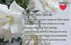 Hoy Padre Querido te dedico mi pensamiento y en mis memorias vivirás para toda la vida. #DiaDelPadre