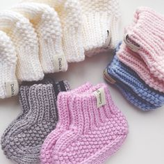 Любить то, что ты делаешь всем сердцем - done!✅ #Padgram Baby Booties Knitting Pattern, Baby Hat Patterns, Booties Crochet, Crochet Baby Shoes, Crochet Baby Booties, Baby Knitting Patterns, Knitting Socks, Baby Girl Socks, Baby Boots
