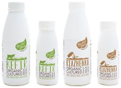 Bio-tiful Dairy Kefir and Riazhenka have been identified as one of the top superfoods to watch in 2015 by food industry analysts Milk Packaging, Food Packaging Design, Product Packaging, Brand Packaging, Top Superfoods, Probiotic Brands, Kefir Culture, Glass Milk Bottles, Packaging