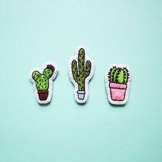 Patchs correctifs de cactus (lot de 3) - Coolstitchees