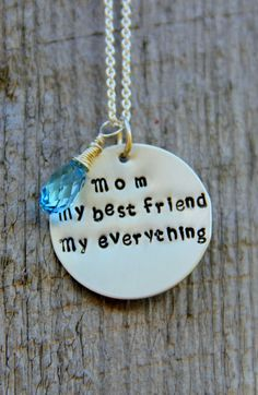 Mom Necklace Daughter, I Love Mom Necklace, No. 1 Mom, Mom My Best Friend Necklace, Appreciation Necklace, Gift For Mom From daughter on Etsy, $49.00
