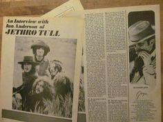 Jethro Tull, Three Page Vintage Clipping 1970s Music, Jethro Tull, Vintage Clip, Point Of View, Japanese Design, Japan Design