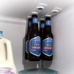 BottleLoft: BottleLoft is the world's first magnetic bottle hanger for your refrigerator. BottleLoft is sold by the 'strip'. Each strip has magnetic positions to hold 3 standard 12 oz. bottles.