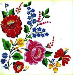 Hungarian embroidery - Kalocsai pattern