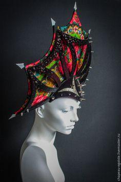 Шляпы ручной работы. Ярмарка Мастеров - ручная работа. Купить Кокошник. Handmade. Светлана гуляева, бархатная шляпка