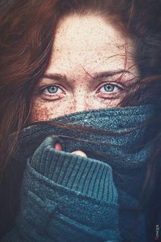 eyes + freckles