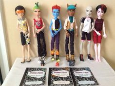 Monster High Doll Boys Holt, Jackson, Clawd, Deuce, Gargoyle And Vampire!