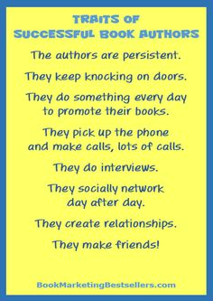 Book Marketing Tip: There is one thing you do have control over: That's your persistence. The authors who get featured in media, the books that get placed on bookstore shelves, the authors who get read by avid readers — they all have one thing in common: The authors are persistent. They keep knocking on doors. They do something every day to promote their books. They pick up the phone and make calls, lots of calls. They do interviews. They socially network, day after day. They create…