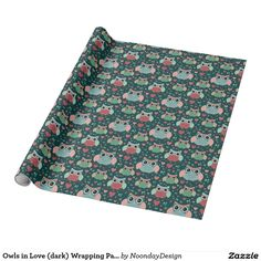 Owls in Love (dark) Wrapping Paper