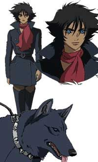 Blue (Wolf's Rain)  This is the perfect costume! I have a black tail and a spike collar!