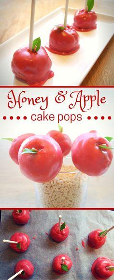 honey & apple cake pops for Rosh Hashanah