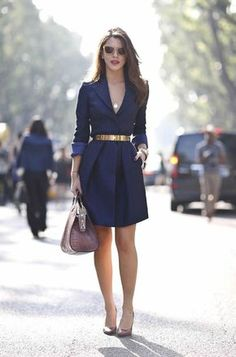 Professional Dresses for Women – Are you searching for ideas about everything you should wear as a working women? Professional Dress For Women, Navy Blue Dress Shirt, Blazer Dress, Shirt Outfit, Sophisticated Dress, Casual Work Outfits, Summer Outfits, Types Of Dresses, Blue Dresses