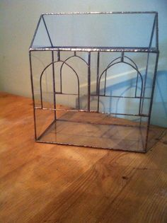 Indoor glasshouse.this summerhouse terrarium reminds me of a gentler age by AugustGlassDesigns on Etsy