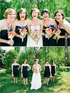 navy blue bridesmaid dresses | CHECK OUT MORE IDEAS AT WEDDINGPINS.NET | #bridesmaids